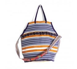 Sacs Grand sac de plage couleur violet et jaune Babachic by Moodywood