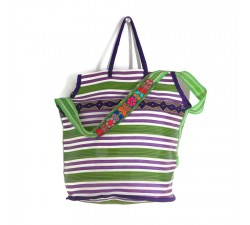 Bags Big purple and green color beach bag Babachic by Moodywood