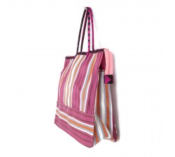 Tote bags Fuchsia and orange square classic tote bag Babachic by Moodywood