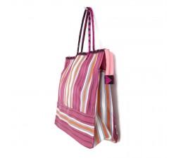 Tote bags Cabas classique carré fushia et orange Babachic by Moodywood