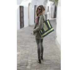 Tote bags Cabas classique carré citron vert Babachic by Moodywood