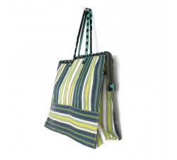 Lime square classic tote bag