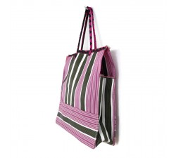 Green and pink square classic tote bag