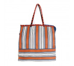 Bags Blue and orange square classic tote bag Babachic by Moodywood