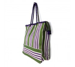 Tote bags Green and purple square classic tote bag Babachic by Moodywood