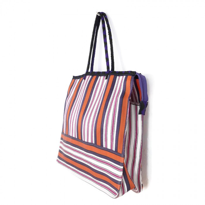 Pink, orange and purple square classic tote bag