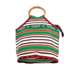 Sacs Petit sac à main Bamboo vert et orange Babachic by Moodywood