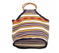 Sacs Petit sac à main Bamboo jaune et violet Babachic by Moodywood