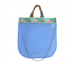 Sacs Tote bag graphique et bleu ciel Babachic by Moodywood