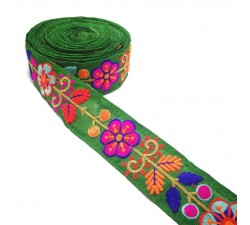 Broderies Broderie Mexicaine verte - 50 mm babachic