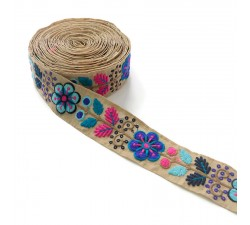 Broderies Broderie Mexicaine bleue - 50 mm babachic