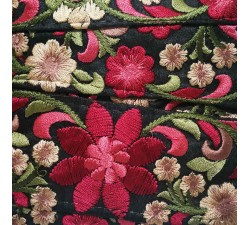 Embroidery Silk border black and red - 50 mm babachic