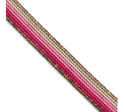 Braid Pink Rainbow ribbon - 15 mm Babachic by Moodywood