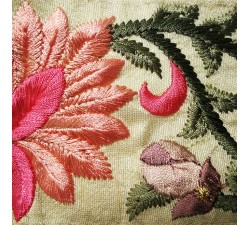 Embroidery Embroidered border in pink and beige silk 7 cm wide Babachic by Moodywood