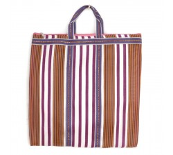 Tote bags Brown and purple Indian striped simple bag Babachic by Moodywood