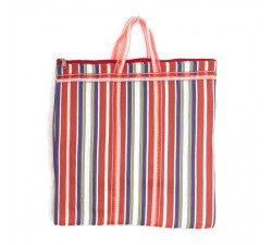 Tote bags Orange and purple Indian striped simple bag Babachic by Moodywood