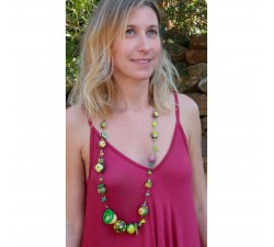 Necklaces Medium long green Mezzo necklace Babachic by Moodywood