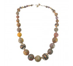 Necklaces Short necklace in brown wooden beads Babachic by Moodywood