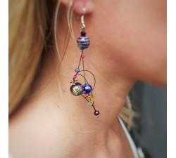 Earrings Fine black purple earrings Babachic by Moodywood
