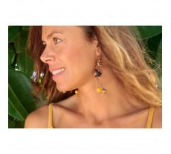 Boucles d'oreilles Boucles d'oreilles fines marron orangé Babachic by Moodywood