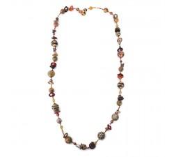 Necklaces Medium brown orange necklace Babachic by Moodywood