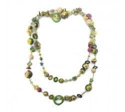 Necklaces Necklace Retro light and extra long green color Babachic by Moodywood