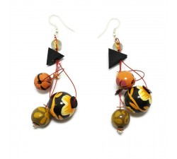 Earrings copy of Fine brown orange earrings Babachic by Moodywood