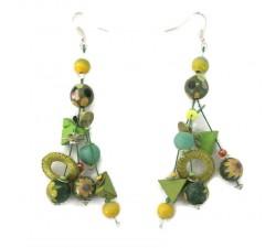 Earrings Green Gypsies earrings 7 cm Babachic by Moodywood