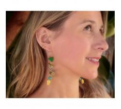 Earrings Fine green Delta earrings 7 cm Babachic by Moodywood