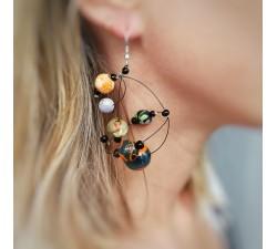 Earrings Round orange brown earrings Babachic by Moodywood