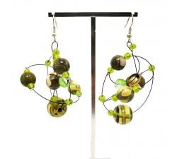 Earrings copy of Round orange brown earrings Babachic by Moodywood