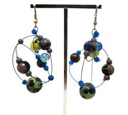 Boucles d'oreilles Boucles d'oreilles rondes bleu Babachic by Moodywood