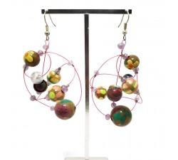 Earrings Round purple earrings Babachic by Moodywood
