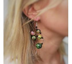 Boucles d'oreilles Boucles d'oreilles rondes vert foncé Babachic by Moodywood