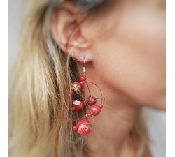 Earrings Round red earrings Babachic by Moodywood