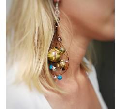 Earrings Boucles d'oreilles longues à grelots - Kaki Babachic by Moodywood
