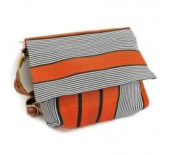 Handbags Petit sac à main à rabat, orange et noir Babachic by Moodywood