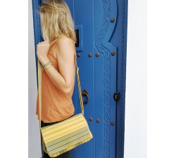 Sacs à main Petit sac à main à rabat, jaune et noir Babachic by Moodywood