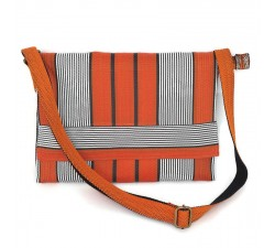 Computer bags Unisex computer bag, orange and black Babachic by Moodywood