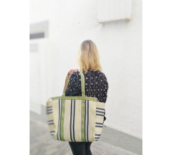 Tote bags Pale yellow and black simple tote bag Babachic by Moodywood