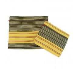 Estuches Duo de pochettes simples á zip jaune Babachic by Moodywood