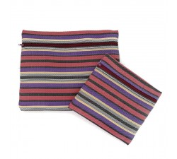 Estuches Duo de pochettes simples á zip violet et prune Babachic by Moodywood
