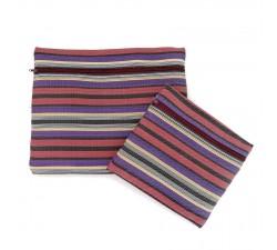 Cases Duo de pochettes simples á zip violet et prune Babachic by Moodywood