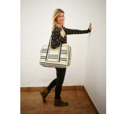 XXL bags Pale yellow and black Weekend bag Babachic by Moodywood