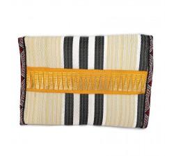 Portes-monnaie Porte monnaie ethnique jaune pâle et noir Babachic by Moodywood