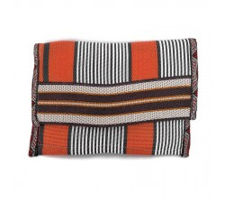 Wallets Porte monnaie ethnique orange et noir Babachic by Moodywood