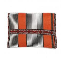 Portes-monnaie Porte monnaie ethnique orange et noir Babachic by Moodywood