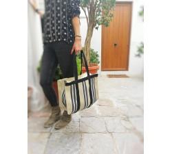 Tote bags Sac à main ou sac de rangement petit format jaune pâle et noir Babachic by Moodywood