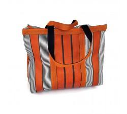 Tote bags Sac à main ou sac de rangement petit format orange et noir Babachic by Moodywood