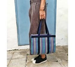 Tote bags Sac à main ou sac de rangement petit format bleu et violet Babachic by Moodywood